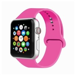 Basic Rubber Series for Apple Watch 42-44mm Barbie Pink
