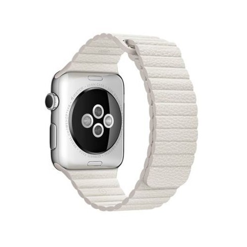 Magnetic Loop Leather Series for Apple Watch 42-44mm White