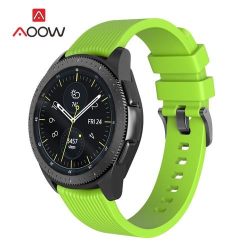 Stripe Rubber Series for Smartwatch 22mm Green