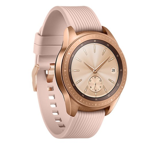 Stripe Rubber Series for Smartwatch 20mm Rose Gold