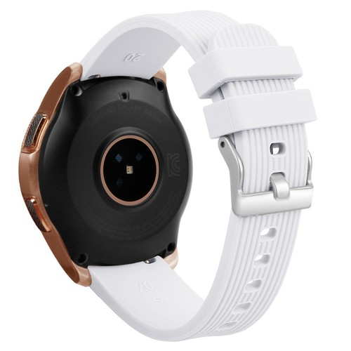 Stripe Rubber Series for Smartwatch 20mm White
