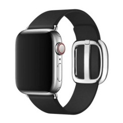 Modern Buckle Leather Series for Apple Watch 42-44mm Black