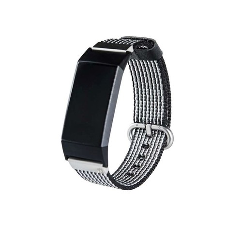 Notale Nylon Woven Series for Fitbit Charge 3 Watch Black White