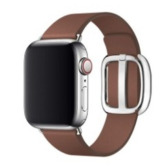 Modern Buckle Leather Series for Apple Watch 42-44mm Brown