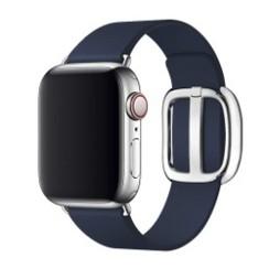 Modern Buckle Leather Series for Apple Watch 38-40mm Dark Blue