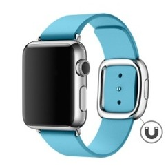 Modern Buckle Leather Series for Apple Watch 42-44mm Light Blue