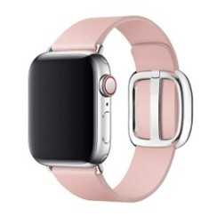 Modern Buckle Leather Series for Apple Watch 42-44mm Light Pink