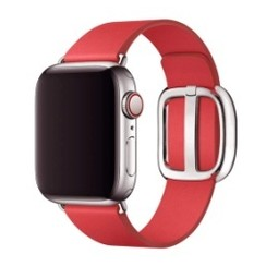 Modern Buckle Leather Series for Apple Watch 42-44mm Red