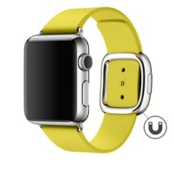Modern Buckle Leather Series for Apple Watch 42-44mm Yellow