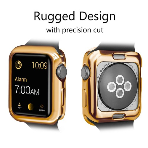 Glossy Bumper Case for Apple Watch  42mm Gold