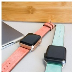 Pasterio Leather Series for Apple Watch 42-44mm Peach