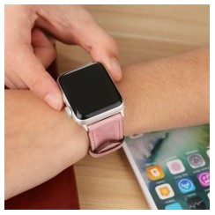 Pasterio Leather Series for Apple Watch 42-44mm Pink