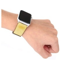 Pasterio Leather Series for Apple Watch 42-44mm Yellow