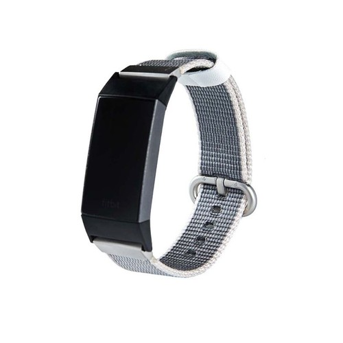 Notale Nylon Woven Series for Fitbit Charge 3 Watch Grey White