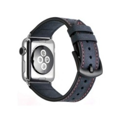 Seventh Leather Series for Apple Watch 42-44mm Blue