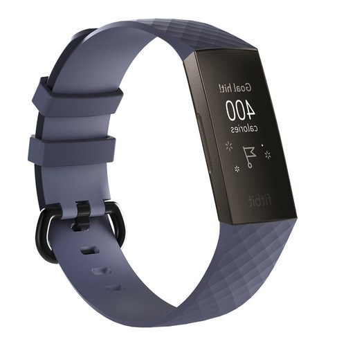 Notale Basic Rubber Series strap for Fitbit Charge 3 Gray