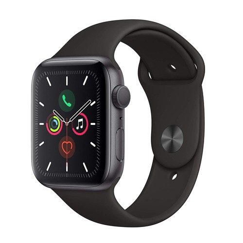 Apple Watch Series 5 GPS 44mm Space Grey Aluminium Case with Black Sport Band - S/M & M/L (MWVF2ID/A)