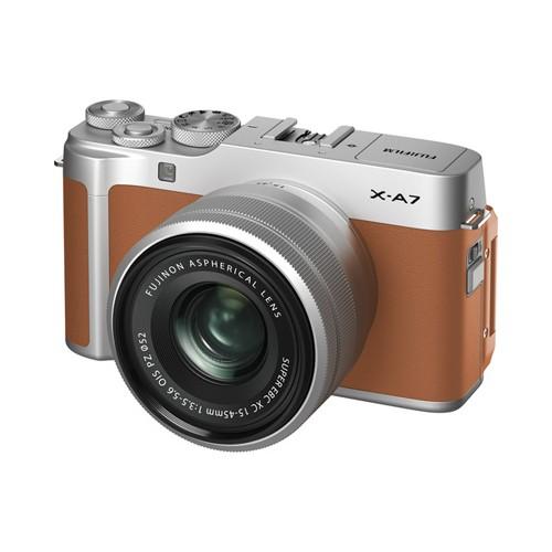 Fujifilm X-A7 Mirrorless Digital Camera with 15-45mm - Camel