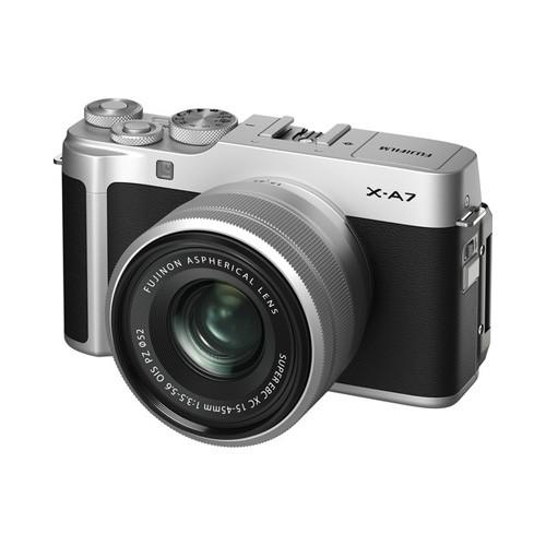 Fujifilm X-A7 Mirrorless Digital Camera with 15-45mm - Silver