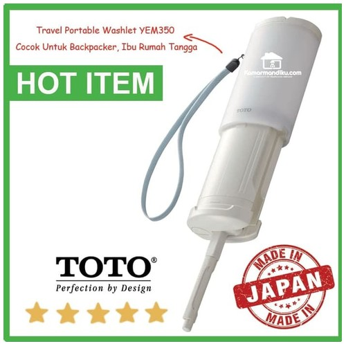 TotoYEW350 travel portable washlet alat bilas toilet untuk backpacker