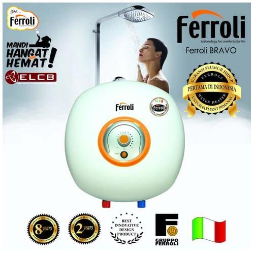 Ferroli water heater Listrik Tipe Bravo Kapasitas 30 Liter