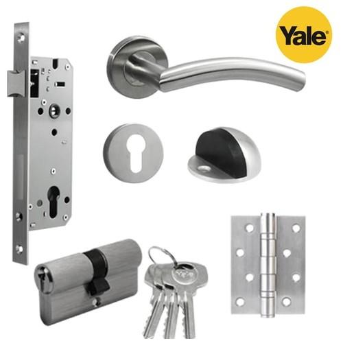 Paket set kunci pintu handle Yale YTL 010 door lock