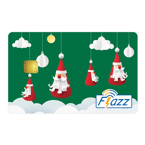 BCA Flazz Christmas - Hijau Hanging Santa Clause