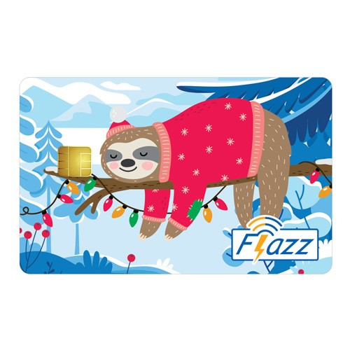 BCA Flazz Christmas - Sloth