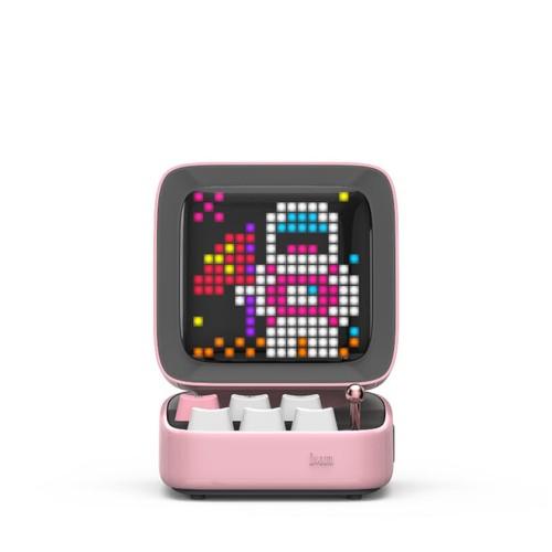 Divoom Ditoo Retro Pixel Art Portable Speaker - Pink