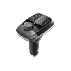 Bluetooth Handsfree MP3 FM Transmitter Dual USB Port Car Charger T50 - Grey