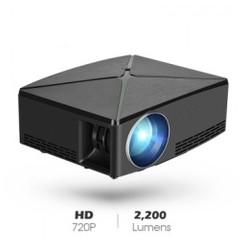 C80 Mini LED HD 720P Home Projector 2200 Lumens - Support 1080P Black