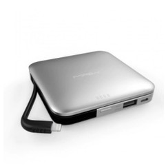 MIPOW SPL09 - Power Cube 9000mAh Power Bank - Built-in Lightning Cable Silver