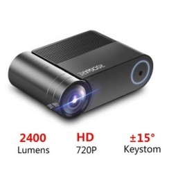 ROCKWARE RW-550 Mini LED HD 720P Home Projector 2400 Lumens 1080P