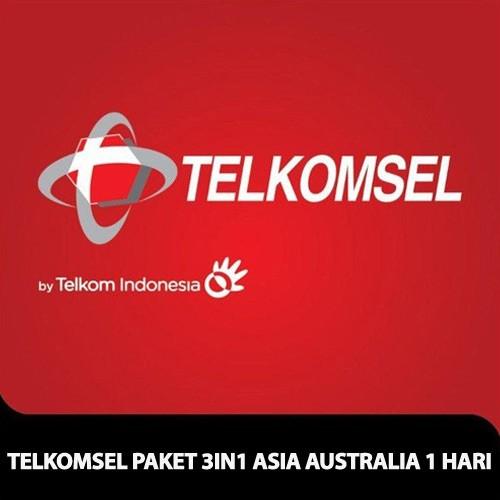 Telkomsel Paket 3 in 1 Asia Australia 1 hari