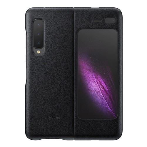 Samsung Leather Case Cover for Galaxy Fold - Black