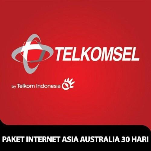 Telkomsel Paket Internet Asia Australia 30 hari