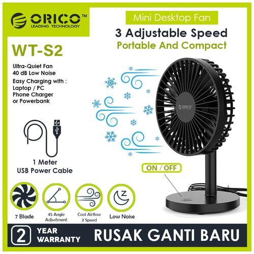 ORICO USB Mini Desktop Fan - WT-S2 - BLACK