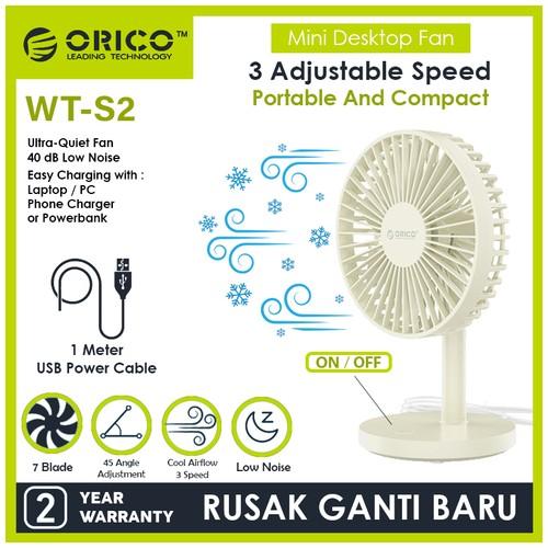 ORICO USB Mini Desktop Fan - WT-S2 - MILK WHITE