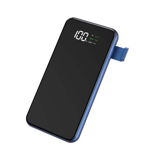 WIWU POWER FLASH W1 - 8000mAh Powerbank with Wireless Charging Blue
