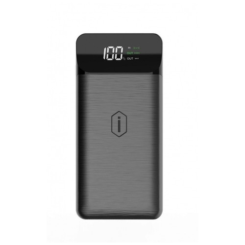 WIWU PD POWERBANK W2 - PD 18W Powerbank 10000mAh and Wireless Charging Black
