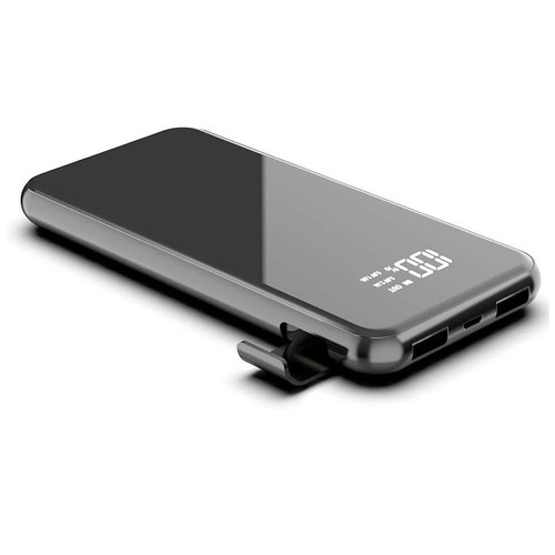 WIWU POWER FLASH W1 - 8000mAh Powerbank with Wireless Charging Black