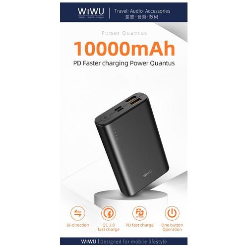 WIWU POWER QUANTUS JC-05 - 10000mAh Powerbank - PD 18W Max and QC3.0