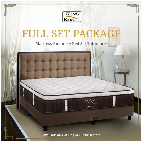 King Koil Kasur Springbed Amani Full Set - Single XL (120x200)