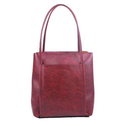 Silvertote Delaine Tote Bag Maroon
