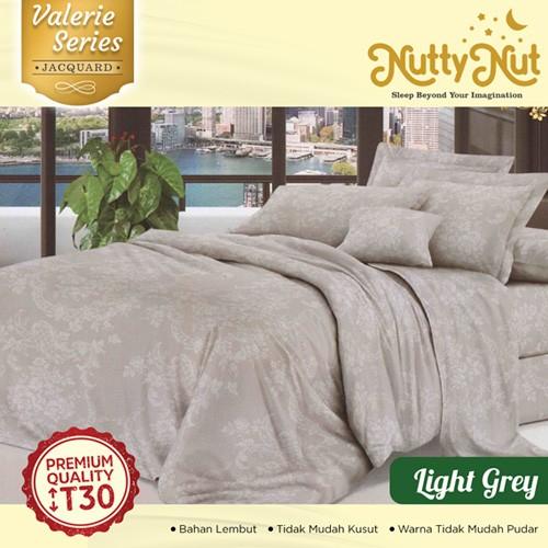 Nutty Nut Sprei Micro Jaquard  motif Light Grey uk 180X200 T30