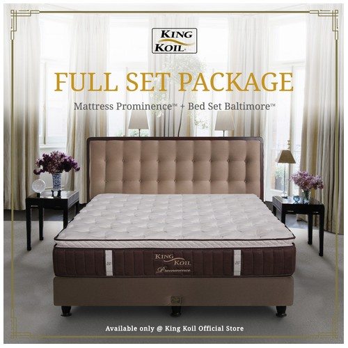 King Koil Kasur Springbed Prominence Full Set - Queen (160x200)