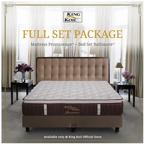 King Koil Kasur Springbed Prominence Full Set - Single XL (120x200)