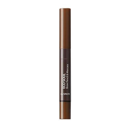 Eco Soul Brow Pencil & Mascara 02 Natural Brown