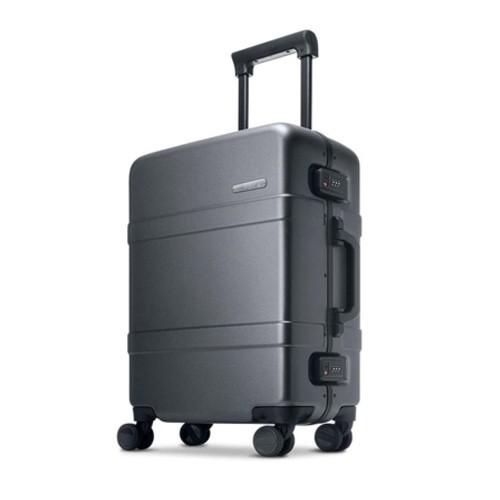 90FUN PC Aluminum Frame Luggage 24 inch - Grey