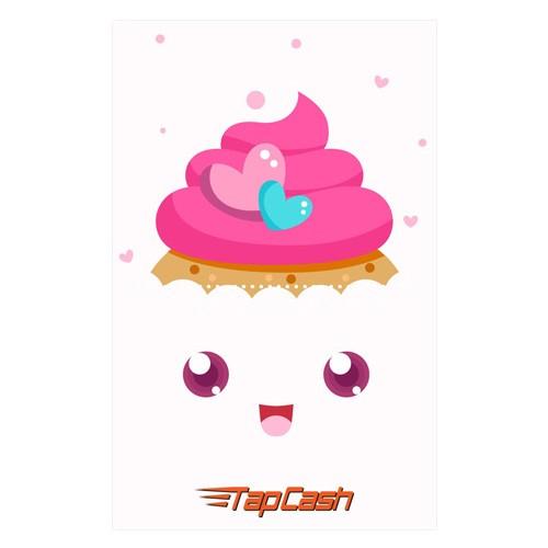 BNI Tapcash Edisi Valentine - Cupcake